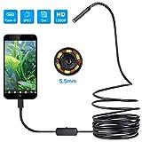 WANG XIN USBendoscope, 5.5mm Borescope Inspektionskamera for Android, Windows-& MacBook Gerät - (5m / 16.4ft)