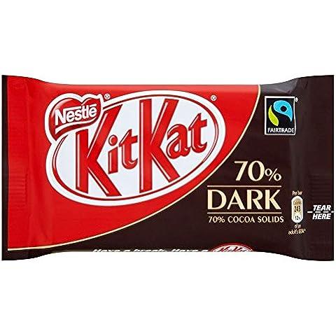 Nestle Comercio Justo Kit Kat 4 Bar Dedo - 70% Oscuro (45g)