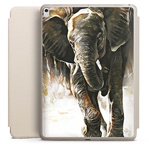 DeinDesign Apple iPad Pro 10.5 2017 Smart Case Sand Hülle mit Ständer Schutzhülle Elefant Natur Zeichnung