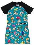 Minecraft - Camisón para niñas 11-12 Años