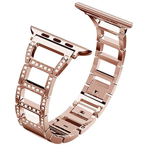 ITSHINY Replacement for Apple Watch Armband 38/40mm,Damen Metall Band für Iwatch Series 4 3 2 1(38/40mm, Rose Gold)