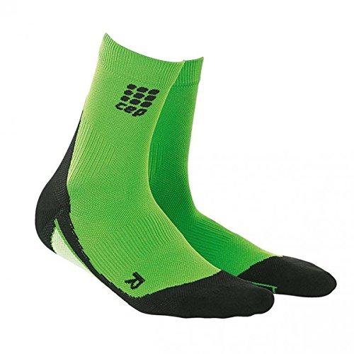 CEP Dynamic+ Short Socks Chaussettes Wmn Blanc Noir Vert - flash green/black