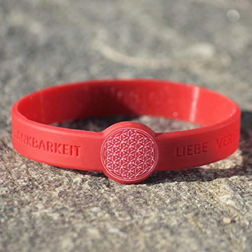 Mindlet Armband Blume des Lebens - Outlet Rot Unten