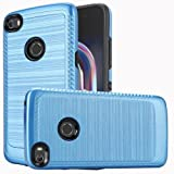 Alcatel Idol 5 Hybrid Case, [Blue/Black] Slim Armor Brushed