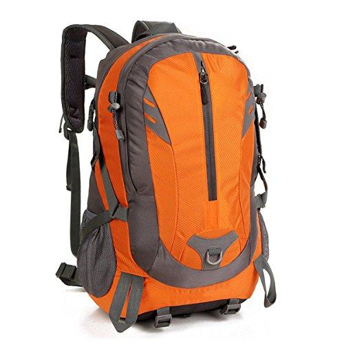 Groß Kapazität Outdoor Reisen Wandern Rucksack Wandern Bergsteigen Tasche Orange