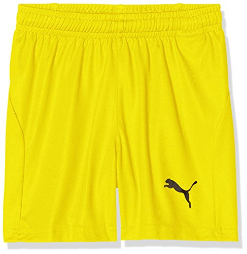 PUMA Kinder Liga Core Shorts, Cyber Yellow Black, 140 -