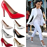 Search : WOMENS LADIES LOW MID HIGH HEEL POINTED COURT SMART PARTY OFFICE WORK STILETTO SHOES PUMPS SIZE