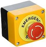 Sourcingmap A14041700UX0692 - Interruptor de botón de parada de emergencia (plástico, 660 V) color rojo