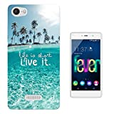 003687 - Quote - Life Is Short Design Wiko Ridge Fab 4G Fashion Trend Protecteur Coque Gel Silicone protection Case Coque