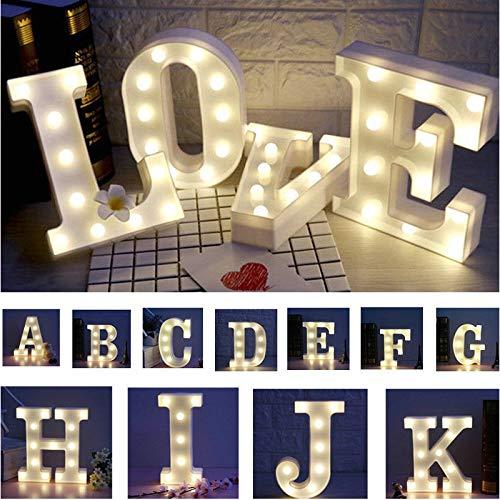 Valentinstag Englisch Led Brief Lampe Geburtstag Vorschlag Romantische Überraschung Szene Arrangement Ins Dekorative Lampe Tisch Weißer Gott 23 x 22 x 18cm Einzelbuchstabe 0-9 (Anmerkung)