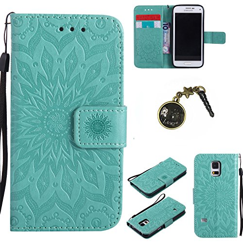 Preisvergleich Produktbild PU Silikon Schutzhülle Handyhülle Painted pc case cover hülle Handy-Fall-Haut Shell Abdeckungen für Smartphone (Samsung Galaxy S5 mini (4,5 Zoll) +Staubstecker (2)