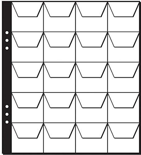 nzenhüllen klar Plastik, 20 Fächer, mit schwarzen Zwischenblättern, 5 Stück ()