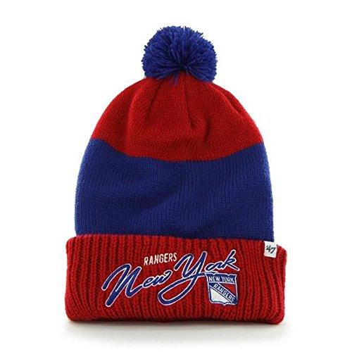 47 Brand NHL Wintermütze New York NY Rangers Mütze hustle cut Knit hat pom