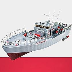 XUEQIN Niños Barco de juguete eléctrico Barco de control remoto de gran tamaño Barco rápido de lancha rápida Barco de guerra Barco de aviación Portaaviones Modelo militar Barco de control remoto ( Color : 2 )