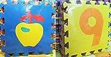 Tosnail Puzzlematte 20 Stück Spielmatte Spielteppich Schaumstoffmatte Matte bunt