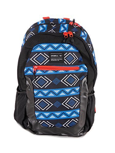 O' Neill Zaino Backpack Ledge blu motivo imbottito Laptop 30litri