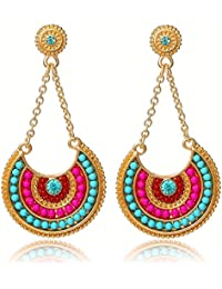 YouBella Jewellery Summer Special Bohemian Stylish Fancy Party Wear Earrings for Girls and Women