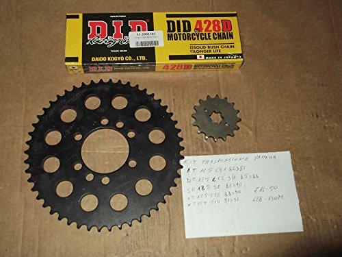 Kit transmission catena-corona-pignone pour Yamaha DT 125 LC1 84 > 87-sr 125 si 83 >