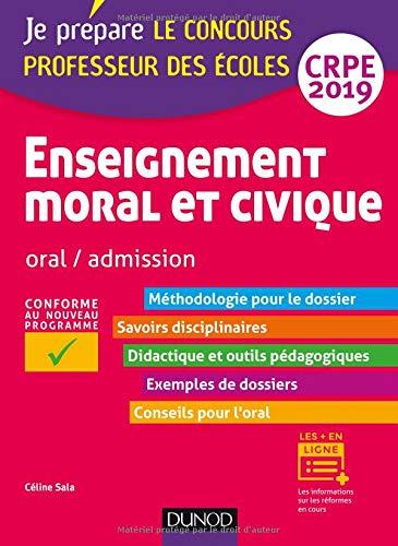 Enseignement moral et civique - Oral, admission - CRPE 2019 par Céline Sala
