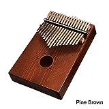 Kalimba Daumen-Klavier mit 17 Tasten, afrikanisches Kiefernholz, Mahagoni, Daumenfinger, Klavier, für Anfänger, Kinder