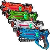 Light Battle Active Lasertag Set - 4X Laserpistole (grün, orange, weiß, blau) - LBAP1041234DP1