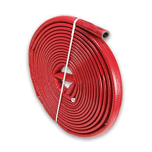 10m PE-Rohrisolierung rund mit Schutzhaut rot DN 32-35mm - Isolierstärke 4mm