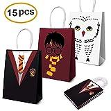 Harry Potter Articles De Fête Faveurs, Harry Potter Sacs De Fête Pour Harry Potter Thème Anniversaire Décorations De Fête Ensemble de 15 (3 Couleurs)