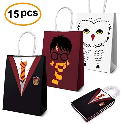 LAOZHOU Harry Potter Party Supplies Favors, Harry Potter Party Bags For Harry Potter Decoraciones de Fiesta de cumpleaños con Tema Conjunto de 15 (3 Colores)
