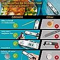 GDEALER Verbesserte Wasserdichte Digital Instant Read Meat Thermometer 2-4s Ultra-Fast-Hochleistungsakku mit Kalibrierung und Hintergrundbeleuchtung für Küchenfutter Süßigkeiten BBQ Grill Kochen