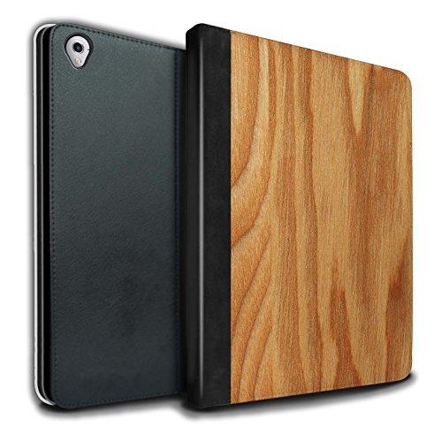 Stuff4® PU-Leder Hülle/Case/Brieftasche für Apple iPad Pro 9.7 Tablet/Eiche Muster/Holz/Holzmaserung Muster Kollektion