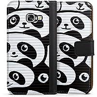 Samsung Galaxy A3 2017 Tasche Leder Flip Case Hülle Panda Graffiti Baer