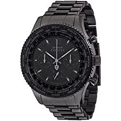 Detomaso Firenze Men's Quartz Watch with Black XXL Steel Forza Di Vita Chronograph Quartz Stainless Steel DT1045 J