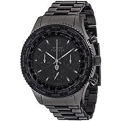 Detomaso Firenze Men's Quartz Watch with Black XXL Steel Forza Di Vita Chronograph Quartz Stainless Steel DT1045J