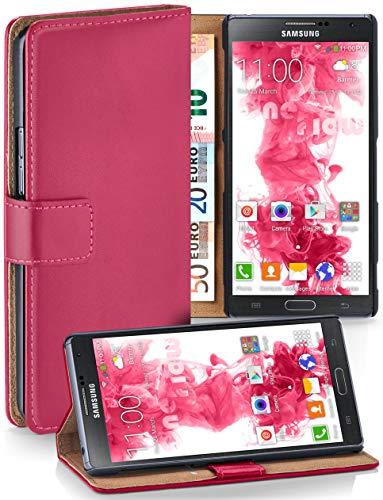 moex® Booklet mit Flip Funktion [360 Grad Voll-Schutz] für Samsung Galaxy Note 3 | Geldfach und Kartenfach + Stand-Funktion und Magnet-Verschluss, Pink - Leather Case 3 Wallet Note Galaxy