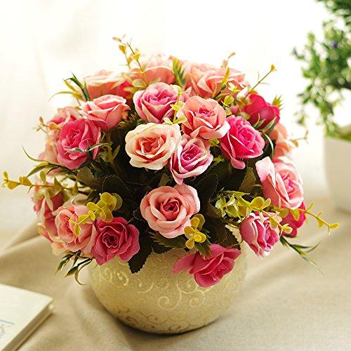 Lqwx Die Blumenvase Retro Rose Suit Wohnungseinrichtung Wohnzimmer Tisch Dekoration, Eine
