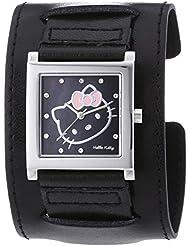 Hello Kitty Damen-Armbanduhr Hyuga Black Analog Quarz Kunstleder HK1774-247