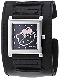 Hello Kitty Damen-Armbanduhr Hyuga Black Analog Quarz Kunstleder HK1774-247