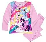 Pony My Little Schlafanzug Mädchen Lang Rundhalsausschnitt (Lila, 110)