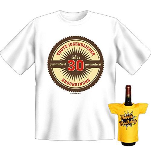 Trotz jugendlicher Erscheinung garantiert über dreißig 30 Set Goodmann ® Lustiges Shirt mit Aufdruck. Gr: Farbe: weiss Weiß