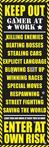 1art1 42832 Poster da porta Gaming - Keep Out (versione per adulti), 158 x 53 cm [Lingua inglese]