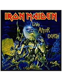 Iron Maiden parche–Live After Death–Iron Maiden Patch–tejida & licencia oficial..