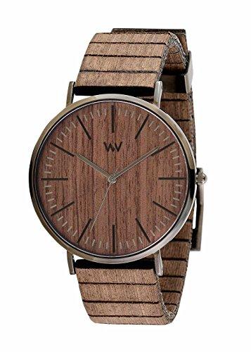 WEWOOD Hommes Analogique Quartz Montre avec Bracelet en Bois WW61001