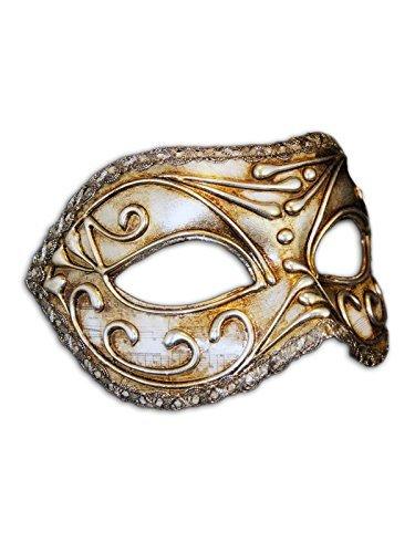 Venezianische Augenmaske Colombina Sonata für Frauen (silber)