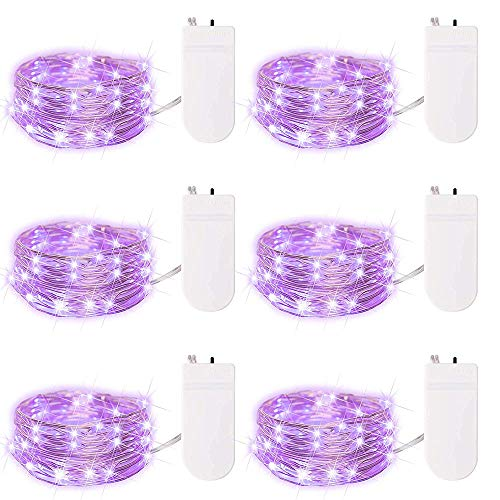 tarry Schnur-feenhaften Licht batteriebetriebenes Wasserdicht Firefly-Lichter mit 20 Micro auf 7feet 2m Silber Kupferdraht Batterie für DIY Hochzeit Centerpiece Dekorationen Power ()