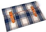 11,6-12,2 Zoll Tablet PC Laptop & Notebook Tweedstoff Tasche Hülle Sleeve Schutzhülle Smart Cover mit edlem Emblem-Verschluss perfekt für Apple MacBook Air 11,6