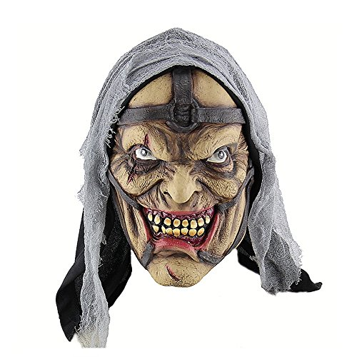 HBWJSH Halloween Horror Zauberer Pimp Monster Maske Amazon Außenhandel Latex Geistermaske ()