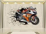 Yosot 3D Fototapete Benutzerdefinierte Wandbild Wohnzimmer Modernes Motorrad Pause Wandmalerei Tv Hintergrund Vliestapeten Für 3D-Wand-140Cmx100Cm
