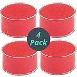1InTheOffice Schwammbecher, Feuchtigkeitspflege für Fingerspitzen, Fingerbefeuchter für Papier, 4 Stück