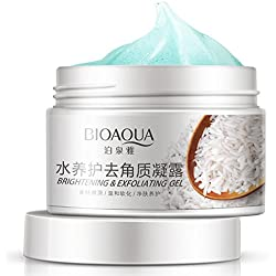 New BIOAQUA Facial Cleanser Natural Facial Exfoliator Exfoliating Whitening Brightening Peeling Cream Gel Face Scrub Removal
