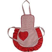Grembiulino Baby CUORICINO cm.39x50 Grembiule Cucina Bambini Taglia Unica  Bambino Cotone 100% Made eb1593483fad